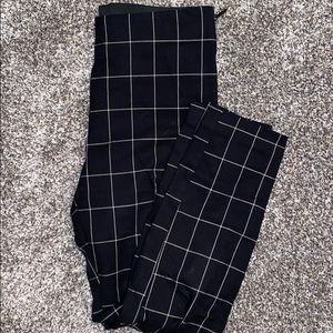Women's Plaid High-Rise Skinny Ankle Pants